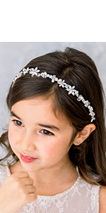 Crystal Pearl Girls Headpiece
