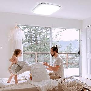 Sternenlicht f/ür Kinderzimmer Wohnzimmer Schlafzimmer Balkon// IP44 Hengda 12W LED Deckenlampe Sternenhimmel// 1080LM Kaltwei/ß Rund Sternen Deckenleuchte /Ø 26.5cm