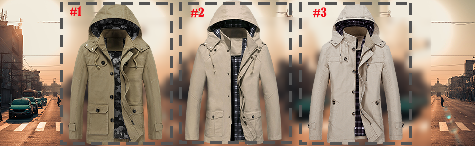 Business Trench Coat Heavyweight Winter Warm Single Breasted Notched Collar Mid-Length Overcoat