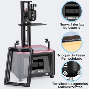 ELEGOO Mars Pro MSLA Impresora 3D de Fotocurado LCD UV con Fuente ...