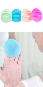 silicone facial brush
