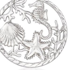 sealife pendant, detail, intricate