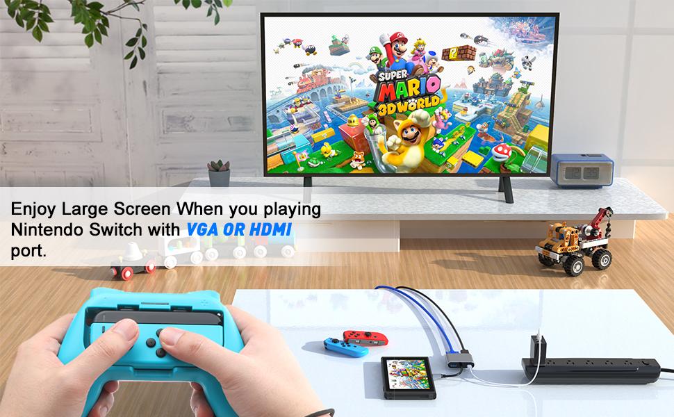 Conmutador Nintendo con VGA