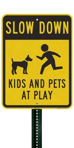Slow Down Kids amp; Pets At Play
