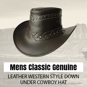 882d82250 BRANDSLOCK Mens Suede Leather Down Under Cowboy Aussie Outback Hat