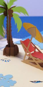 Freedom Beach Popup Card