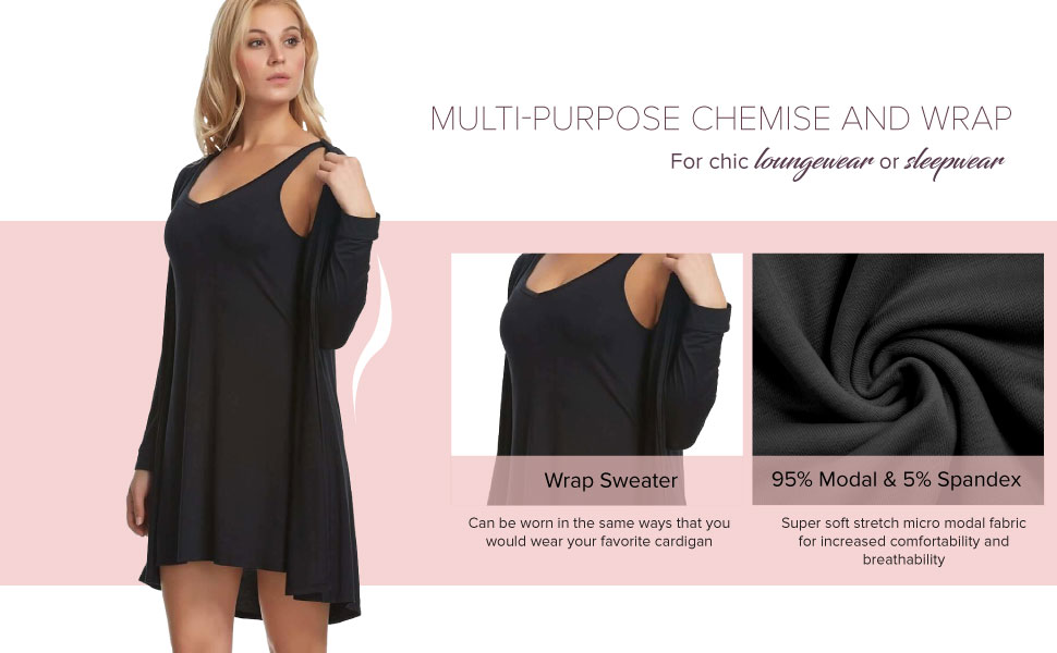 tank chemise and wrap