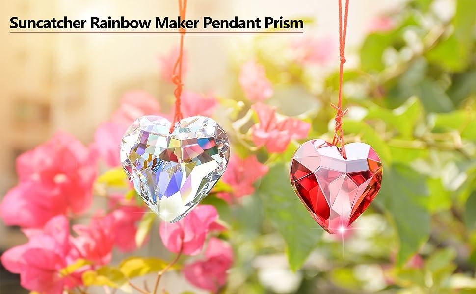 K9 heart-shaped crystal pendant