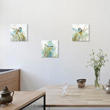 Cute Birds Paintings Canvas Wall Art