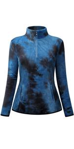 Womens 1/4 Zip Polar Fleece Sweatshirt