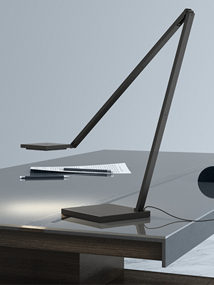 quattro led task lamp, desk lamp, office lighting