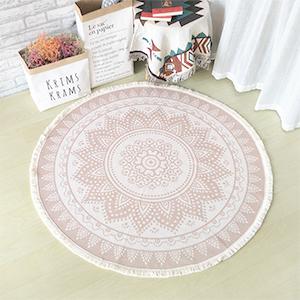 woven circle mandala area rug throw mats indoor mat round rug bedroom living room boho 4 ft fringe