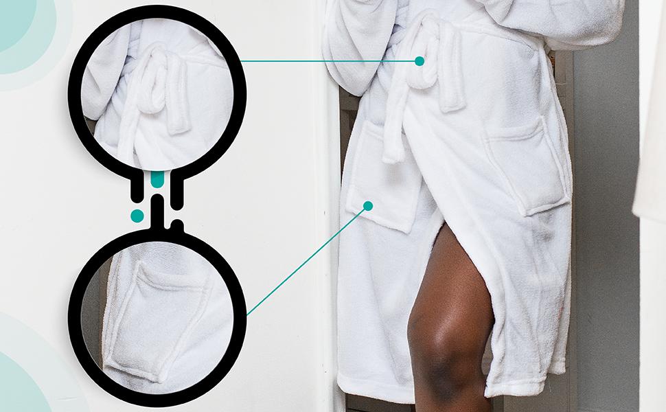 bathrobe, spa bathrobe, luxury bathrobe, plushbathrobe, bathrobe with pockets, spa robe, white bath