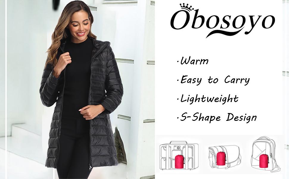 Women's Hooded Packable Ultra Light Weight Short Down Jacket