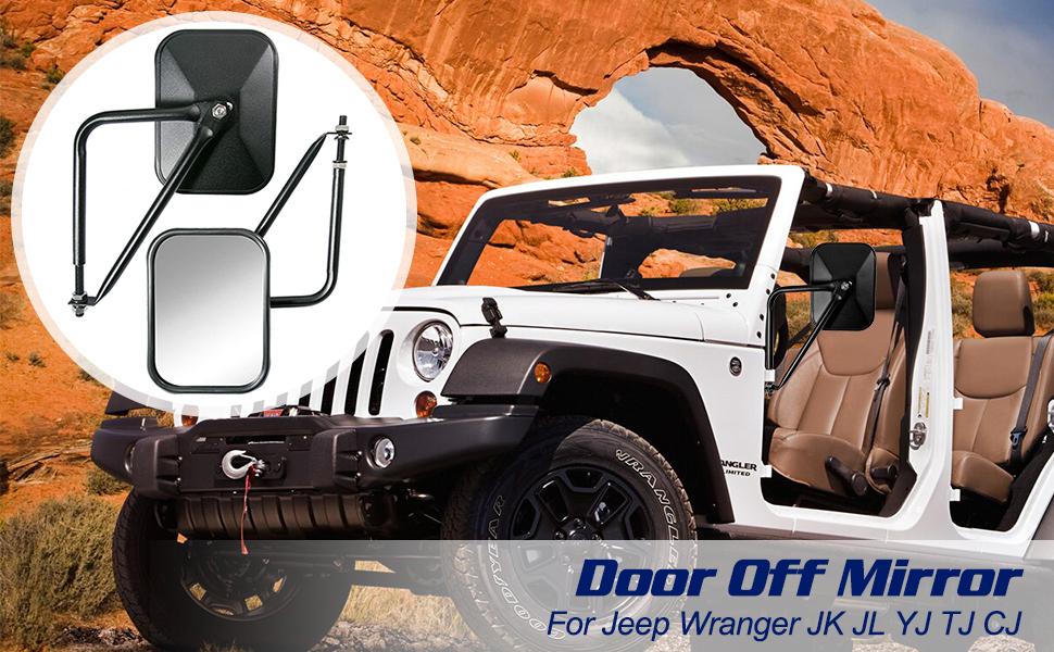 Jeep Wrangler Door Off Mirrors