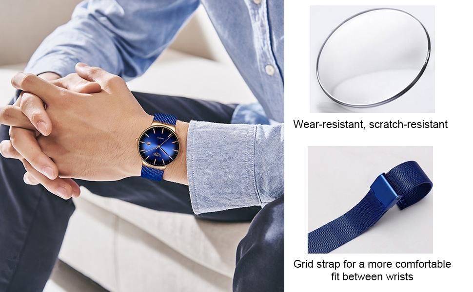 mens watch blue