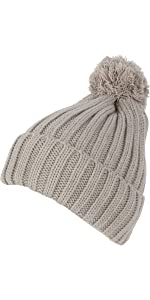 cable beanie hat pom pom solid color thick sweater knit slouchy warm winter ski snow casual lined