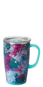 swig life travel mug coffee hot tea handle lid women stainless steel insulated 18oz tumbler cup mugs