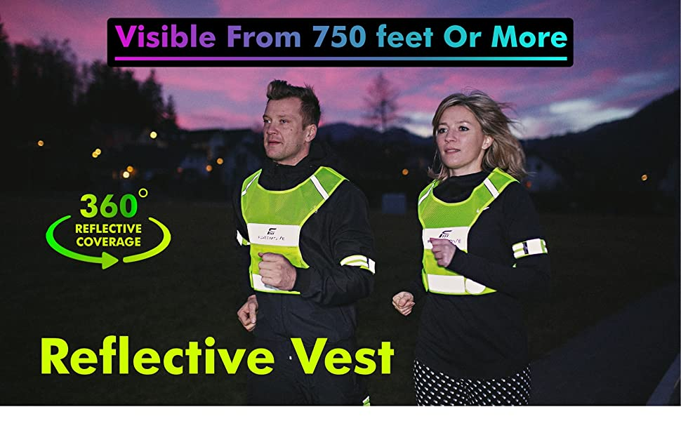 FREEMOVE reflective running vest reflective gear hi viz reflective jacket equipment no.1 visibility