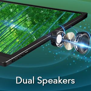 Dual speakers monitor