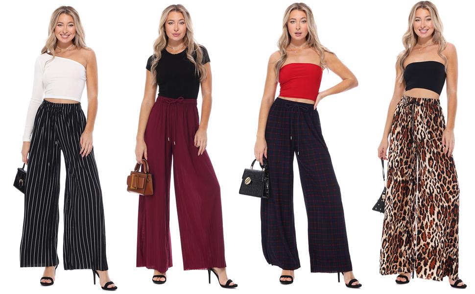 Made in USA FASHION BOOMY Womens Knit Capri Culottes Gaucho Pants