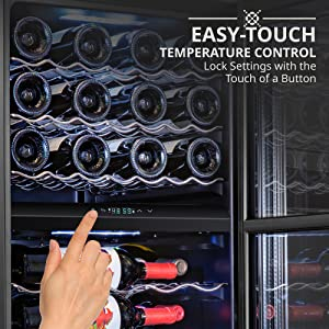 Ivation wine cooler easy touch control