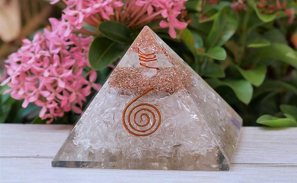 healing crystal pyramid energy crystal chakra rocks orgone pyramid emf protection orgone accumulator