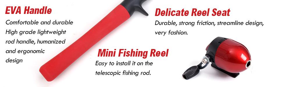 EVA Handle+Delicate Reel Seat+ Mini Fishing Reel