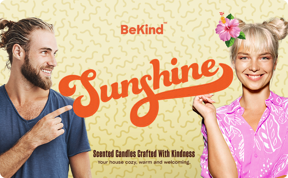 Bekind Sunshine Scented Candles Set