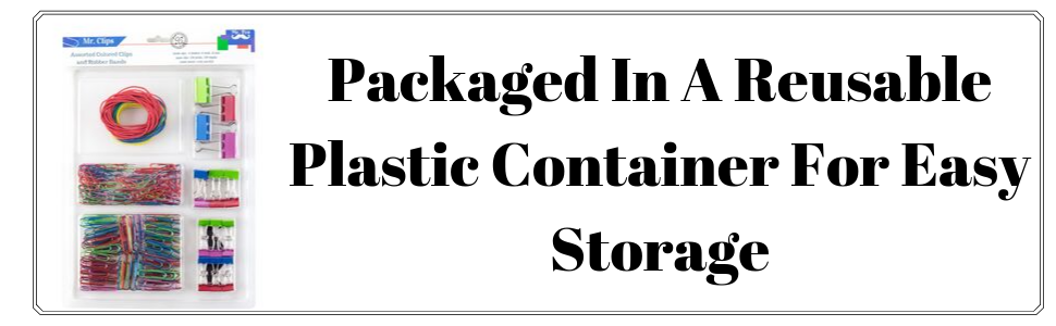 Packaged In A Reusable Plastic Container For Easy Storage