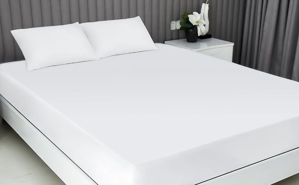 white pillow cases standard
