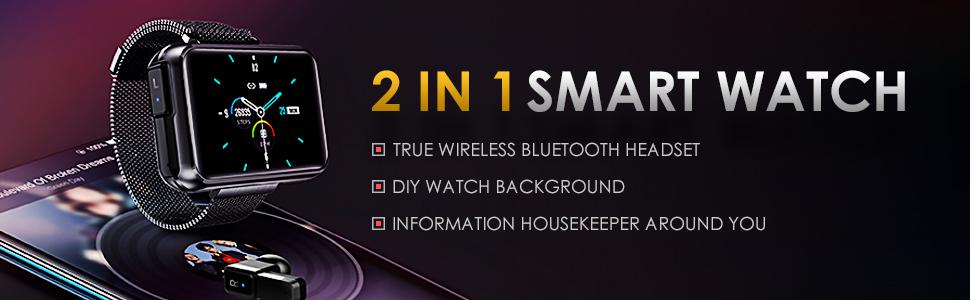 T91 2 in 1 Smart Watch