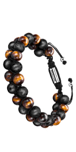 lava rock and tiger eye bracelet