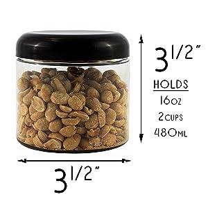 clear plastic dome lid jars