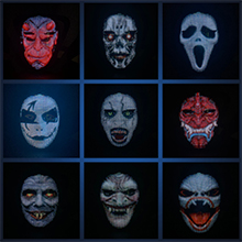 Programmable LED mask