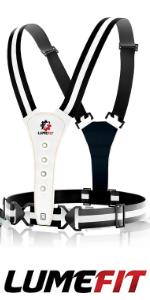 LUMEFIT Torcia Frontale Torace Jogging 500 Lumen Fascia Cinturino Catarefrengente Professionale Per Corsa Corridori Luce Pila LED Lampada Notturna Ricaricabile USB Con Angolo Regolabile Fino A 90/°