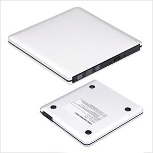 ultraslim ROOFULL external CD DVD drive USB 3.0 for MacBook Pro, Air, Windows 10 laptop