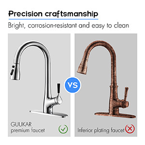 chrome pull down kitchen faucet