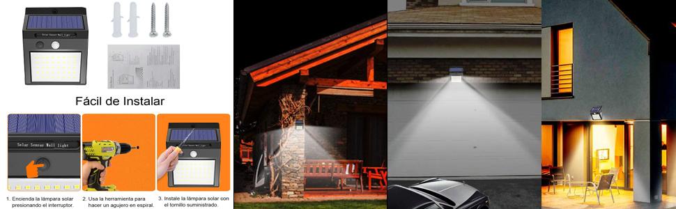 lamparas solares para exterior