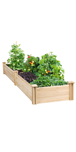 Yaheetech Raised Garden Bed 8x2ft