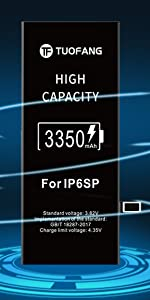 iPhone 6SP battery