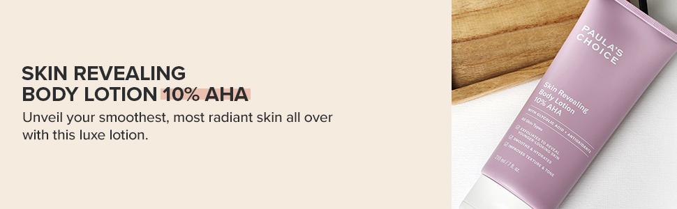 Body Treatment 10% AHA is a moisturiser that gently exfoliates to soften bumps on skin & rough skin.