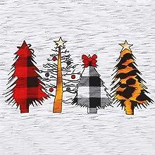 Women Short Sleeve Christmas Shirt