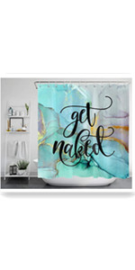 ECOTOB Get Naked Marble Shower Curtain Decor