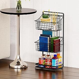 metal market basket stand