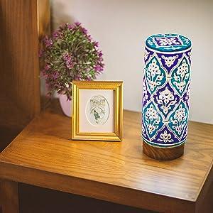 bedside table lamp rustic bohemian