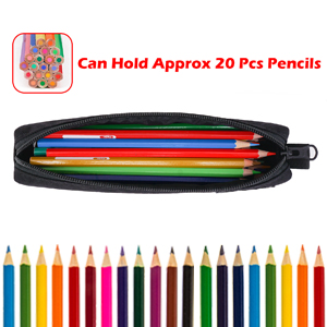 thin pencil case large capacity can hold approx 20 pcs pencils stationery school art supplies case