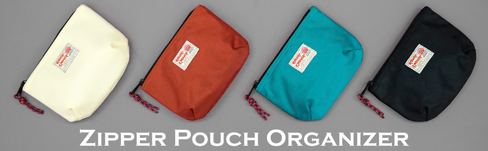 rough enough small nylon zipper pouch organizer bag for travel cable cords chargers toiletry storage