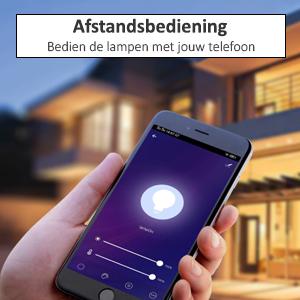 afstandsbediening smart lampen controleren