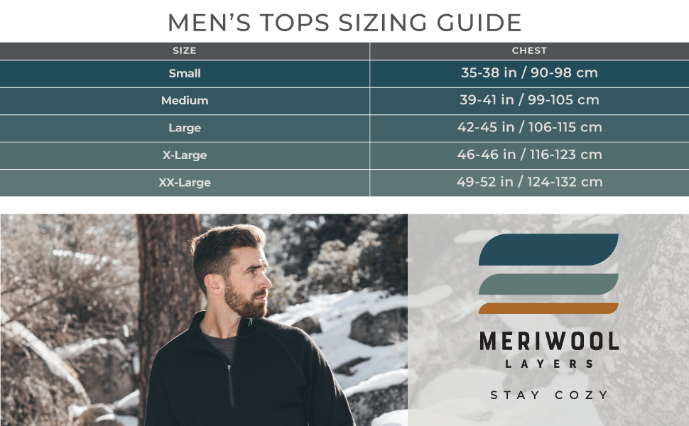merino boxer briefs come in small, medium, large, extra large and XX large, they're ideal for anyone